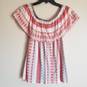 CHICO'S OFF SHOULDER BLOUSE TOP - 0/SMALL